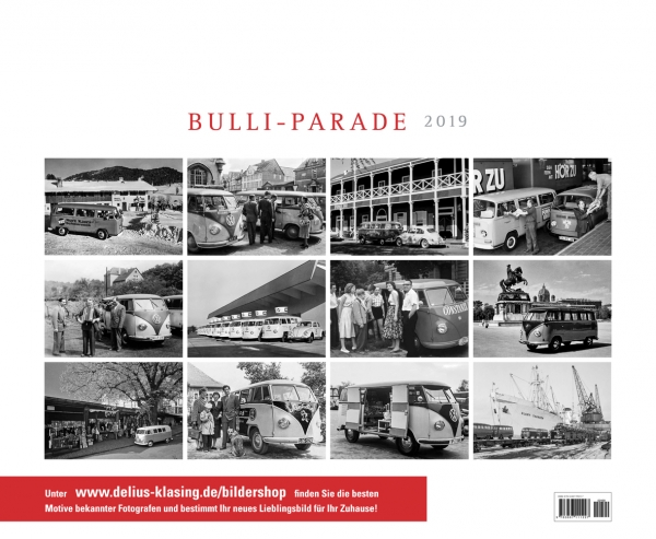 vw bulli parade kalender 2019 serag ag. Black Bedroom Furniture Sets. Home Design Ideas