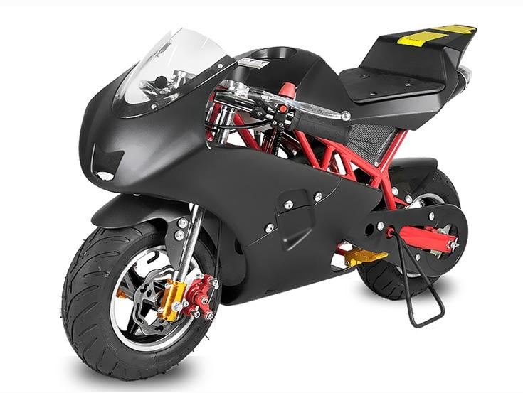 pocketbike 49 cc typ rocket farbe schwarz rot. Black Bedroom Furniture Sets. Home Design Ideas