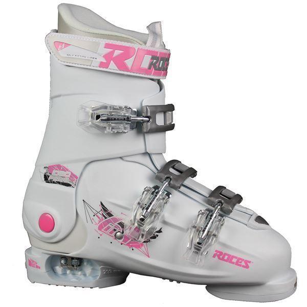 Roces Idea_Weiss _Gr. 36 bis 40_ Kinder Skischuhe