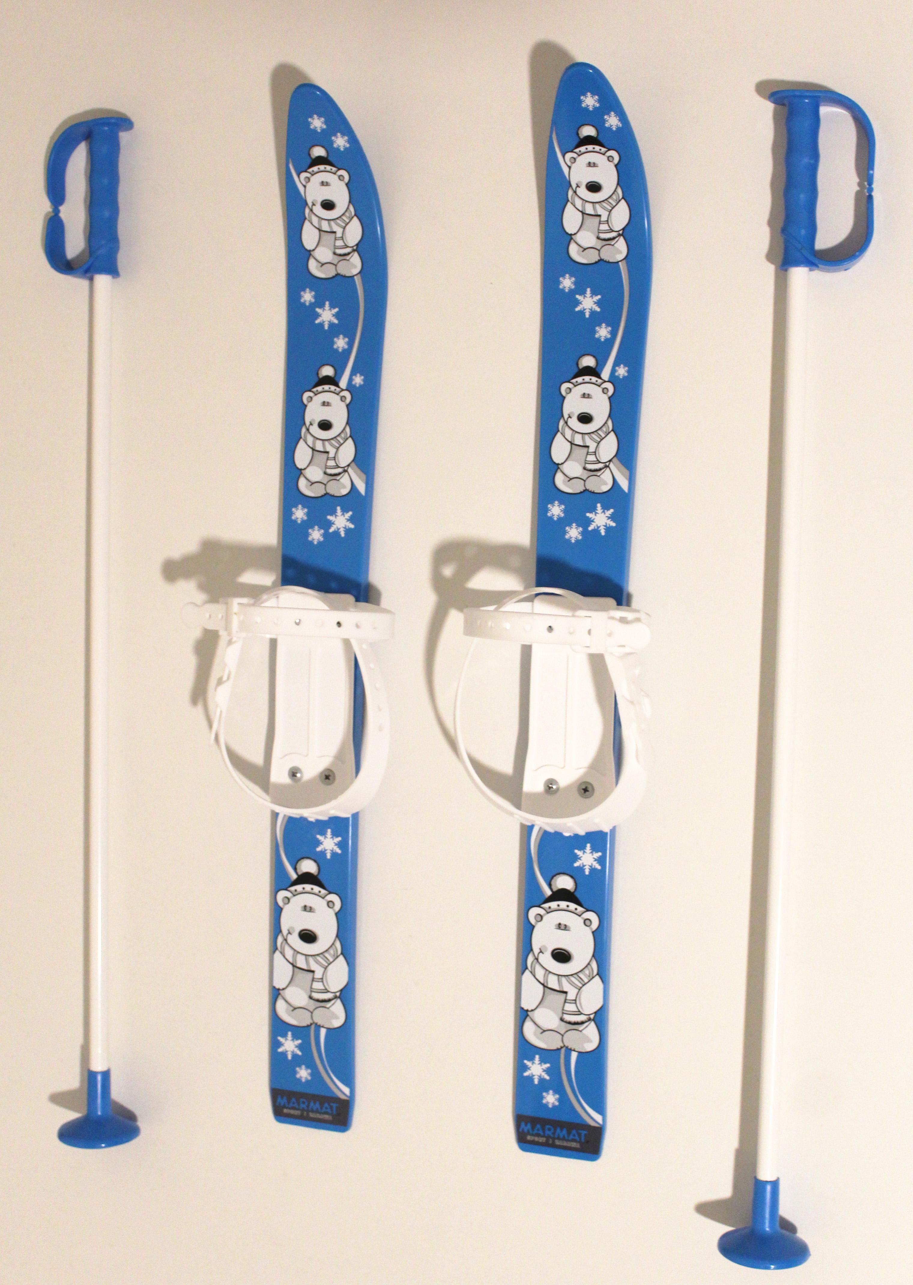 Kinder Ski Set Rutscherli – Farbe blau und weiss