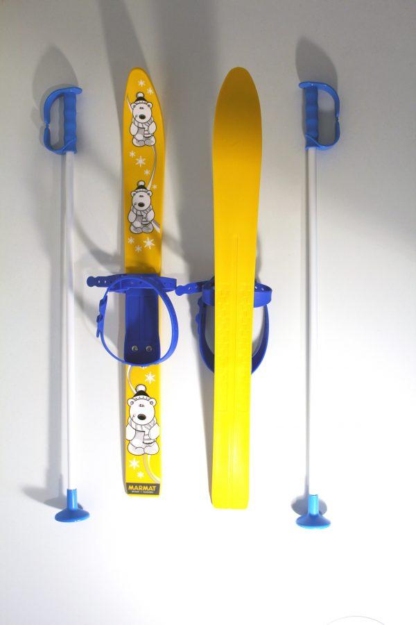 Kinderski Marmat Gelb Blau