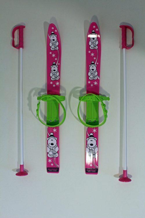 Kinder Ski Set Rutscherli – Farbe pink und grün