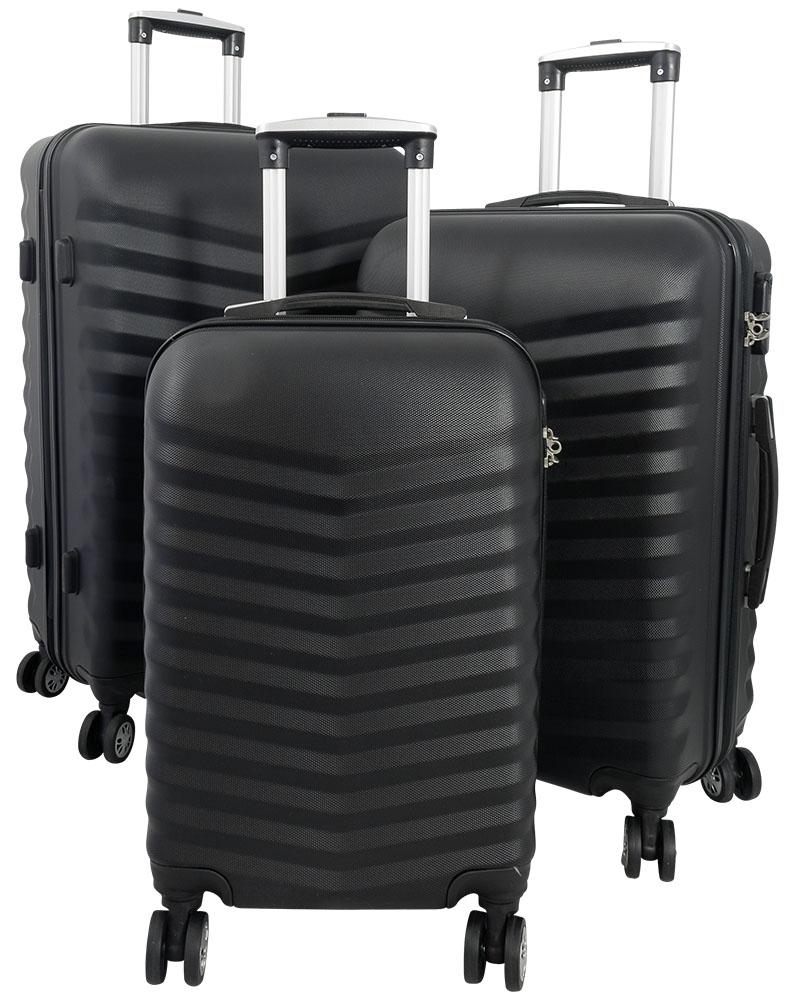 ABS Kofferset 3tlg Bora Schwarz 1