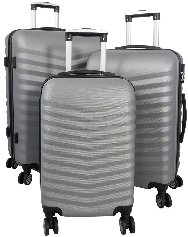01 ABS Kofferset 3tlg Bora Silber
