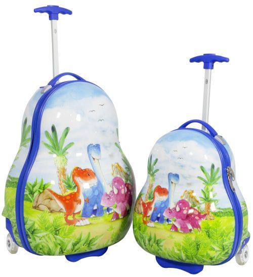 01 Kinderkofferset 2tlg Dino