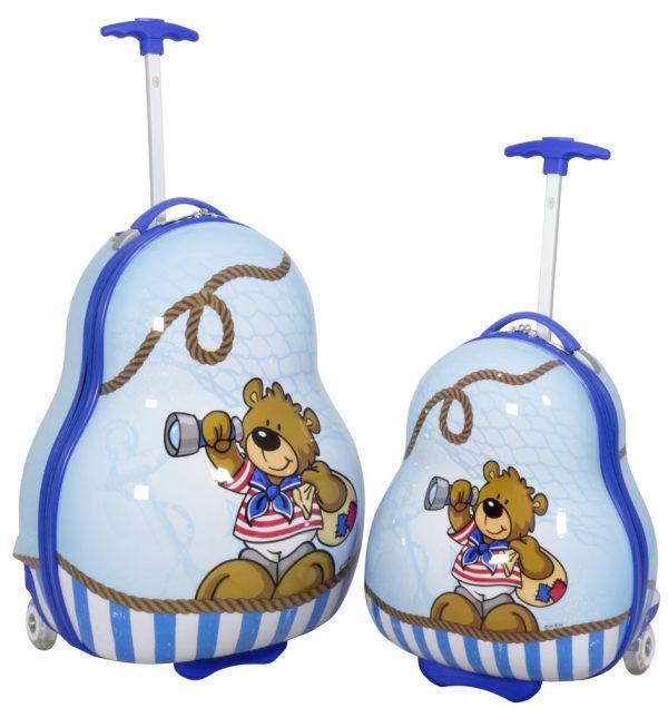 01 Kinderkofferset 2tlg Bär Blau