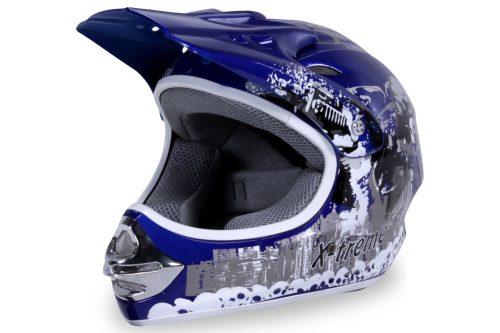 01 Kinder Schutzkleidung Actionbikes X Treme Kinder Cross Helm Blau Für Dirtbikes Oder Miniquad Serag AG 1