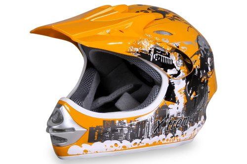 01 Kinder Schutzkleidung Actionbikes X Treme Kinder Cross Helm Gelb Für Dirtbikes Oder Miniquad Serag AG 1