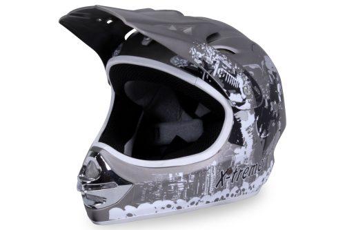 01 Kinder Schutzkleidung Actionbikes X Treme Kinder Cross Helm Grau Matt Für Dirtbikes Oder Miniquad Serag AG 1