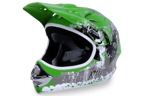 01 Kinder Schutzkleidung Actionbikes X Treme Kinder Cross Helm Gruen Für Dirtbikes Oder Miniquad Serag AG 1