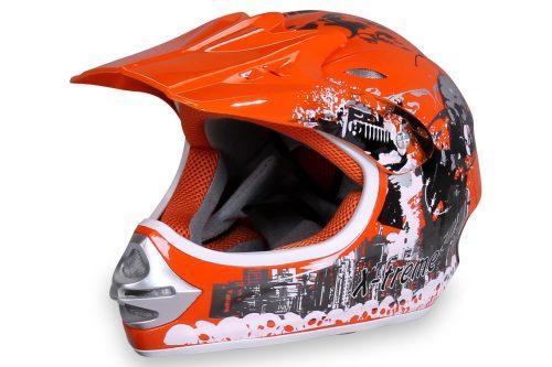 01 Kinder Schutzkleidung Actionbikes X Treme Kinder Cross Helm Orange Für Dirtbikes Oder Miniquad Serag AG 1