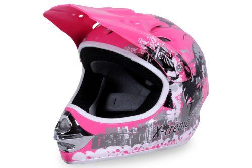 01 Kinder Schutzkleidung Actionbikes X Treme Kinder Cross Helm Pink Für Dirtbikes Oder Miniquad Serag AG 1