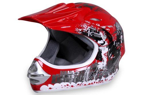 01 Kinder Schutzkleidung Actionbikes X Treme Kinder Cross Helm Rot Für Dirtbikes Oder Miniquad Serag AG 1