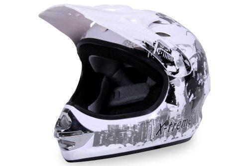 01 Kinder Schutzkleidung Actionbikes X Treme Kinder Cross Helm Weiss Für Dirtbikes Oder Miniquad Serag AG 1