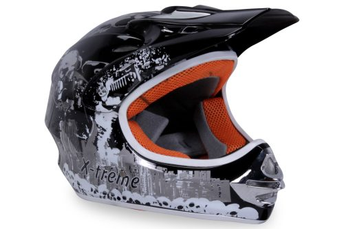01 Kinder Schutzkleidung Actionbikes X Treme Kinder Cross Helm Schwarz Für Dirtbikes Oder Miniquad Serag AG 1