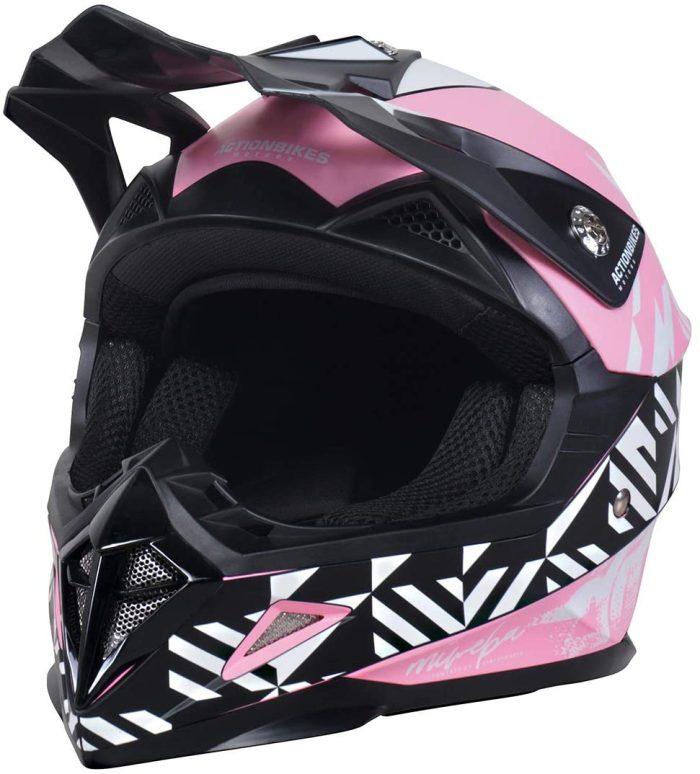 02 - Kinder Schutzkleidung_Actionbikes_Kinder_Cross_Helm_Pink _für Dirtbikes oder Miniquad_Serag AG_2