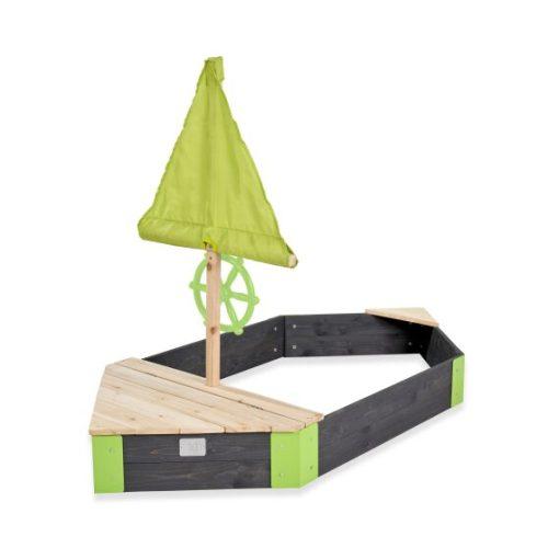 Holzsandkasten Von EXIT Toys EXIT Aksent 200x170cm Sechseckig Bei Serag AG 1