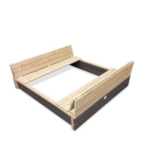 Holzsandkasten Von EXIT Toys EXIT Aksent Grau 136x132cm Bei Serag AG 1