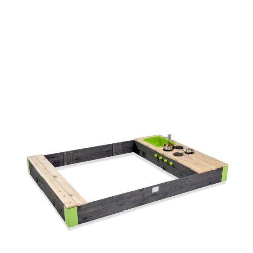 Holzsandkasten Von EXIT Toys EXIT Aksent Grau 200x140cm Bei Serag AG 1