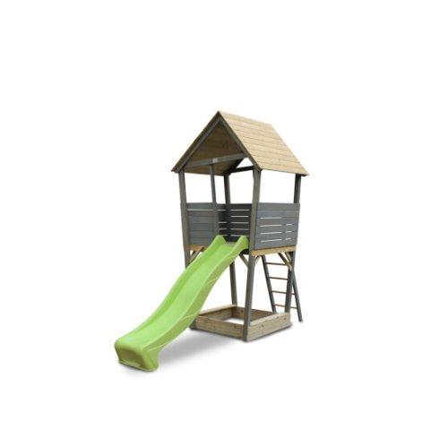 Holzspielturm Von EXIT Toys EXIT Aksent Grau 94x138x50cm Bei Serag AG 1