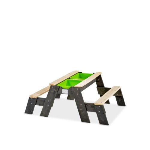 Sand Wasser Picknicktisch Von EXIT Toys EXIT Aksent 2 Baenke Grau 120x94cm Bei Serag AG 1