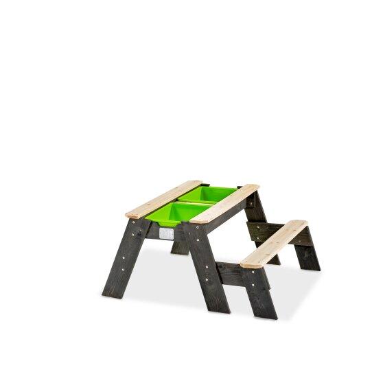 Sand Wasser Und Picknicktisch Von EXIT Toys EXIT Aksent Grau 94x94cm 1 Bank Bei Serag AG 1