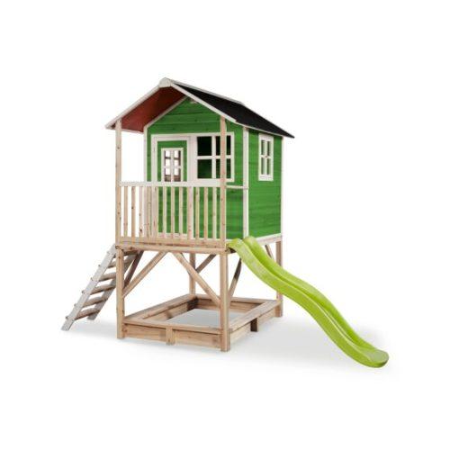 Holzspielhaus Von EXIT Toys EXIT Loft 500 Gruen Bei Serag AG 1