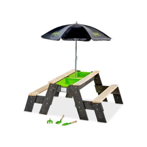 Aksent Sand Wasser Picknicktisch Von EXIT Toys 2 Bänke Sonnenschirm Gartenwerkzeugen Grau 120x94cm Bei Serag AG